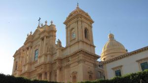 029 12-436 Noto - Duomo Madre San Nicolo  seitlich  Abendlicht