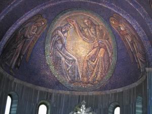 319) Trieste - Cattedrale di S Giusto - Altarmosaik