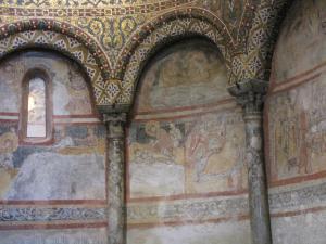 324) Trieste - Cattedrale di S Giusto - Seitenschiff San Giusto Fresken