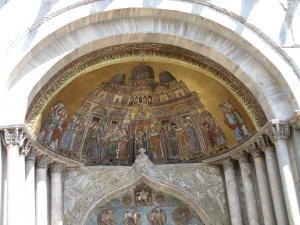 416) Venedig - S Marco - Fronteingang 1 (vlnr) oben