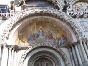 421) Venedig - S Marco - Fronteingang 3 (Mitte) oben