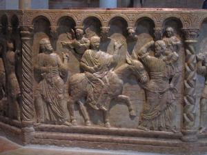 158) Verona - Dom - Taufbecken im Baptisterium